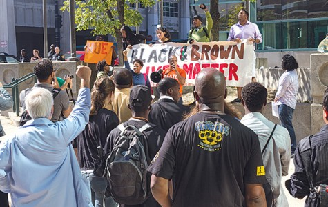 Solidarity rally; black and brown lives matter
