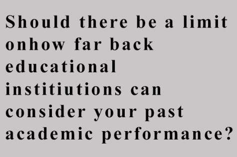 Should there be a limit on how far back educational institutions can consider your past academic performance?