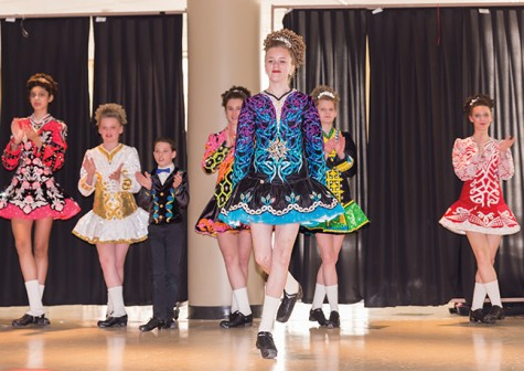 Saint Patty's Day dancers jig Irish joy