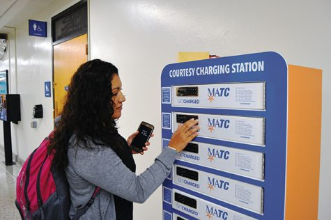 Stay Connected:  Campus adds device charging stations