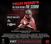 Tech N9ne 'lets off' at the Rave