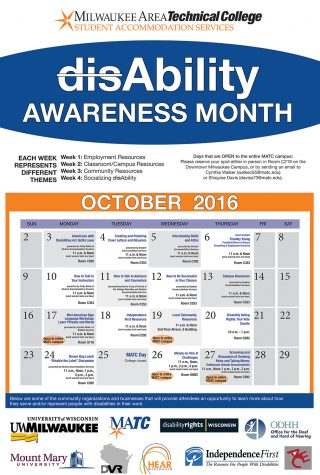Disability awareness takes over October