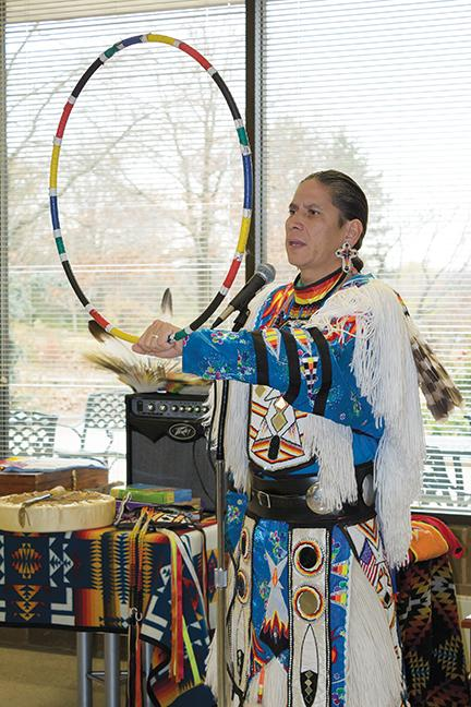 Explaining the significance of the circle in Native American culture.