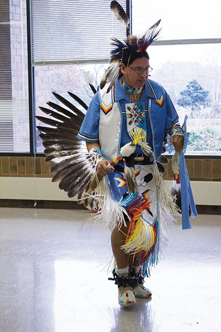 Daniel Preston doing one of several ceremonial dances.