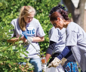 Students, faculty, staff come and serve community
