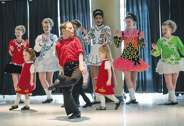The stage at the third floor cafeteria located in the S-Building at the Downtown Milwaukee Campus came alive with the rhythm and style of traditional Irish dance.