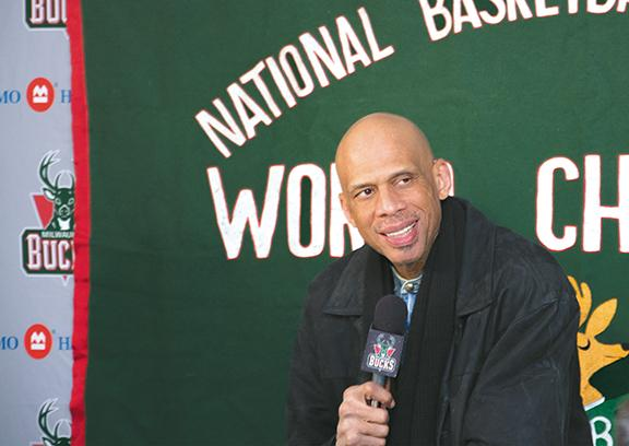 NBA Hall of Famer and former Milwaukee Bucks player, Kareem Abdul-Jabbar, returned to Milwaukee to promote a new tourism ad in which he stars.