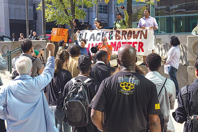 On+Friday%2C+Sept.+26%2C+the+MATC+Black+Student+Union+along+with+the+Latino+Student+Organization+held+a+rally+outside+of+the+S-building+of+the+Downtown+Milwaukee+campus.+The+rally+was+held+to+put+an+end+to+mass+incarcerations+and+deportations.