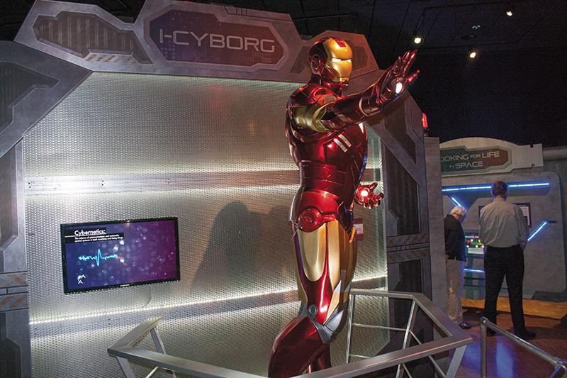 Ironman is part of a display about cyborgs at the Alien Worlds and Androids exhibit at the Milwaukee Public Museum, which runs through Jan. 11, 2015.