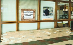 Building a Better Foundation bricks are displayed at MATC's Downtown campus.