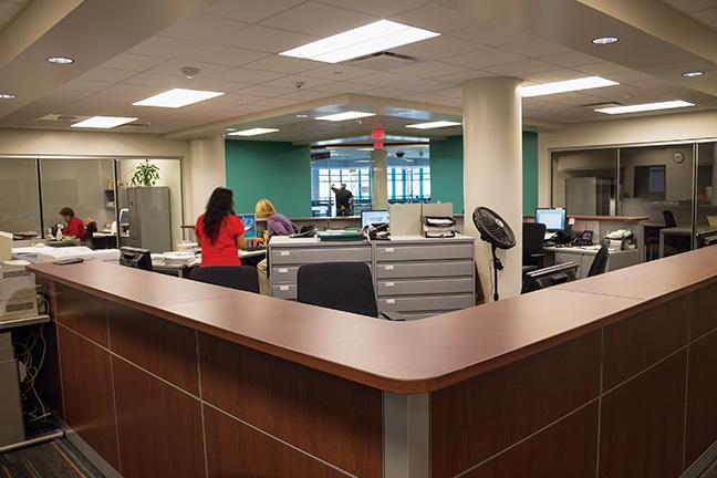 Employees are excited to move into the newly renovated Testing Center.
