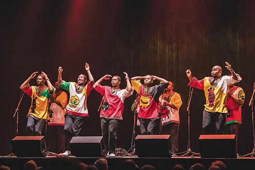 Ladysmith Black Mambazo brought their high energy show to the Pabst Theater on Feb. 15.
