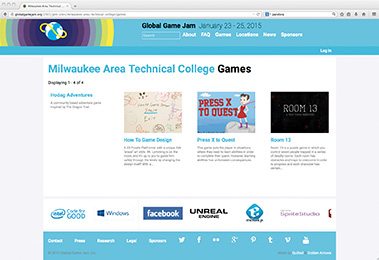 Students showcase their gaming creations at globalgamejam.org.