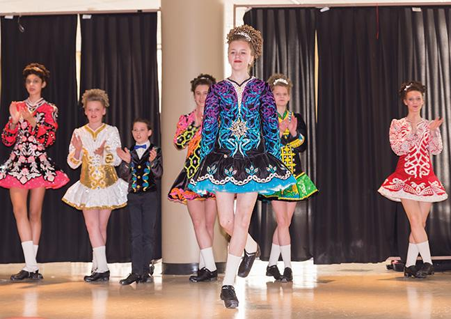 Performers from Kinsella Academy of Irish Dance entertained students, faculty and staff on St. Patrick's Day at the Downtown Milwaukee and West Allis campuses.