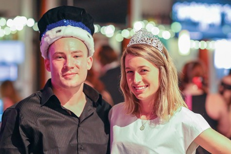 Shaun Hoekman (L) and Leila Kane are this year's Downtown Milwaukee campus Grand Ball king and queen. They were both sponsored by the Biotechnology Network Club.