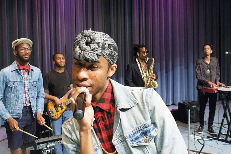 """Pop/soul singer Lex Allen performed on June 16 at MATC Downtown Milwaukee campus as part of Men's Health Awareness Month. Allen's song """"Breathe Easy"""" was inspired by his father's battle with breast cancer."""