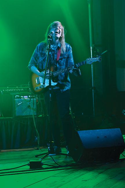 MATC music student Jordin Baas is feeling the groove at Rock the Hunger VIII on May 7.