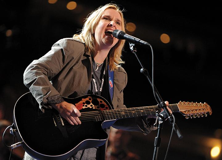 Melissa Etheridge plays during a sound check in advance of her appearance at the Democratic National Convention in Denver, Colorado, Wednesday, August 27, 2008. (Olivier Douliery/Abaca Press/MCT)