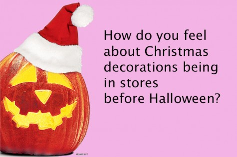 How do you feel about Christmas decorations being in stores before Halloween?
