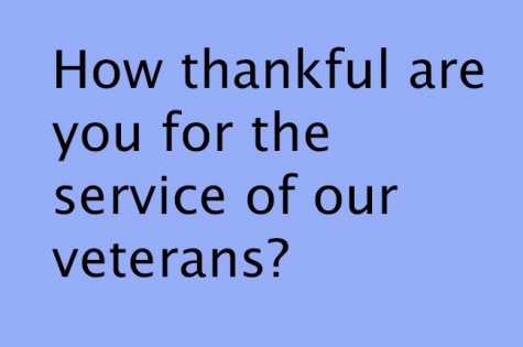 How thankful are you for the service of our Veterans?