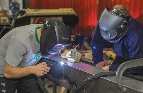 Welding students assist South Milwaukee High School robotics team