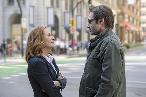 Gillian Anderson and David Duchovny in The X-Files.