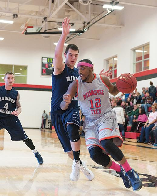 """Thomas  """"Tommie T"""" Hood Jr. (12) led the mens basketball team in points per game with 14.1 ppg."""