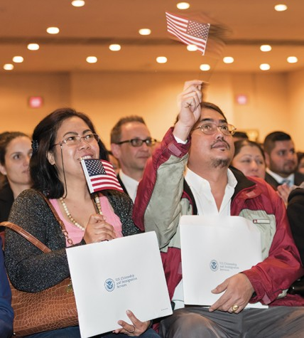 Proud citizens celebrates Naturalization Ceremony