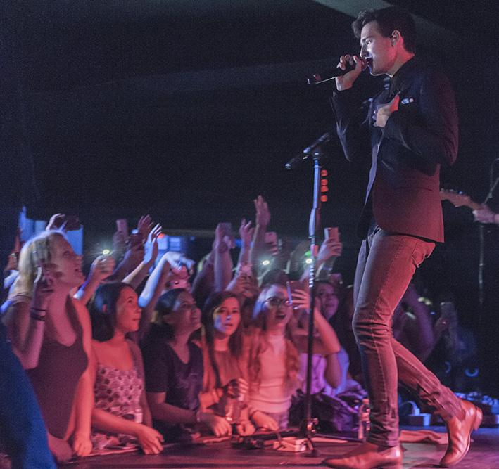 Jacob Whitesides serenades his loving crowd at the Rave Club on June 4.