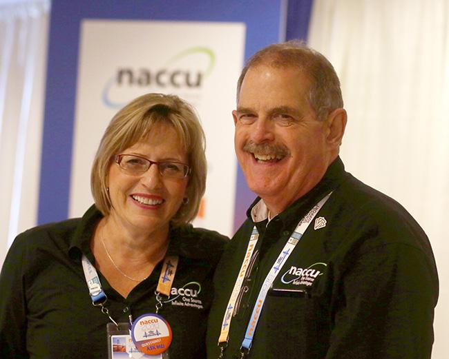 Brenda+Saugstad+%28L%29+with+then+NACCU+Executive+Director+Lowell+Adkins.