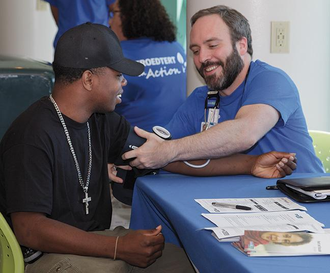 Students were provided blood pressure screenings by health professionals from Froedtert & The Medical College of Wisconsin.