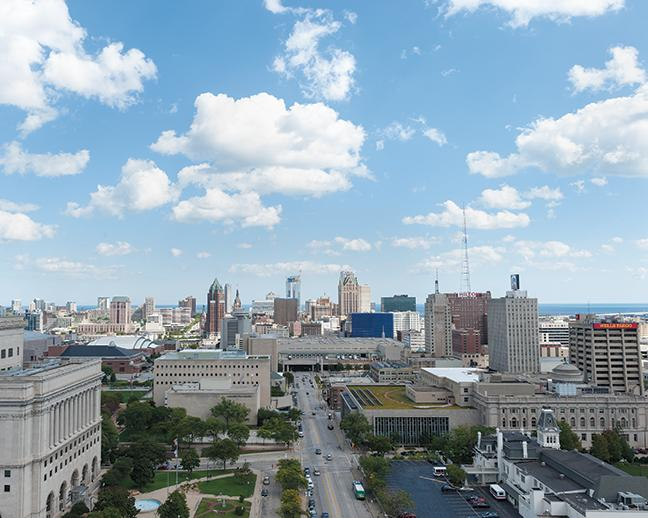 The Catholic Financial Life building, a first year participant, provides beautiful views of the Milwaukee skyline.