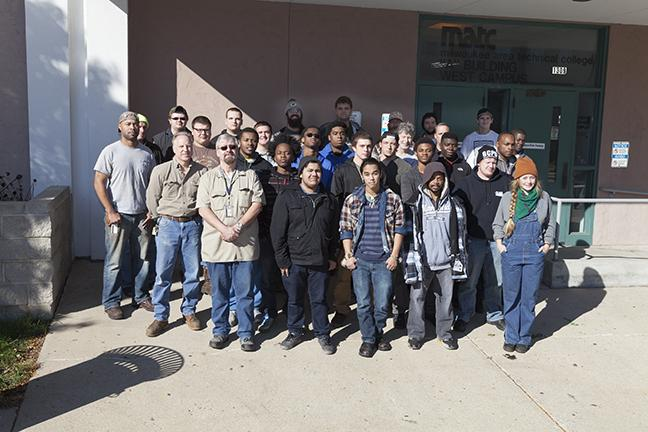 Welding students bond at first meeting