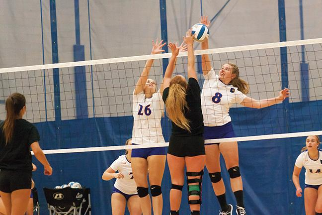 On Oct. 19 the Stormers' Kayla Bockhop went up against two Concordia University defenders but she was denied. The MATC team lost the match.