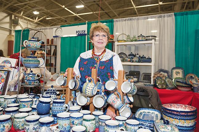 Louise Ciesalk from Muskego sells Polish wares as part of the Polanki, Polish Women's Cultural Club of Milwaukee.