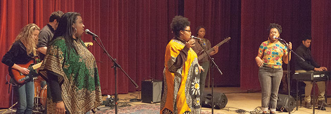 The C Auditorium at the downtown Milwaukee campus was host to a Black History Month concert on Feb. 27.  The Performance Techniques were one of three acts to be showcased.