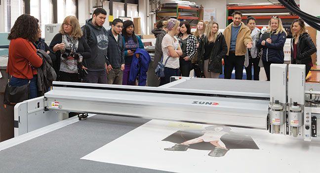 The Grapic Design program plans on partnering with Printing Services on several class projects.
