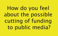 How do you feel about the possible cutting of funding to public media?