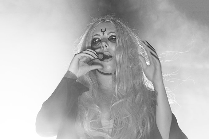 Lead singer Maria Brink of In This Moment at The Rave on April 7.
