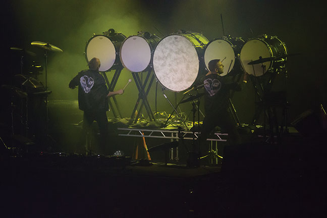Galantis+begins+their+concert+with+this+unique+drum+set.
