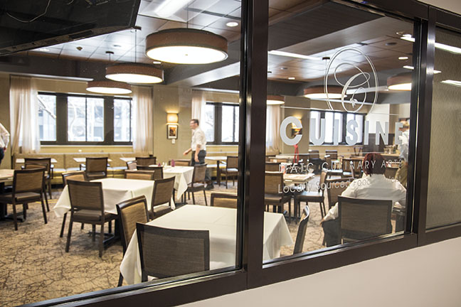 Cuisine Restaurant, 700 W. State Street 1st Floor of M Building. 414-297-6697. Lunch service Tuesdays, Wednesdays and Thursdays. Reservations are taken between the times of 11:15 a.m. and 12:15 p.m. To reserve a table, use the online reservation system found on MATC website, or call.