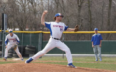 Stormer pitcher #19 Tyler Mauch demonstrates great form with his pitching.