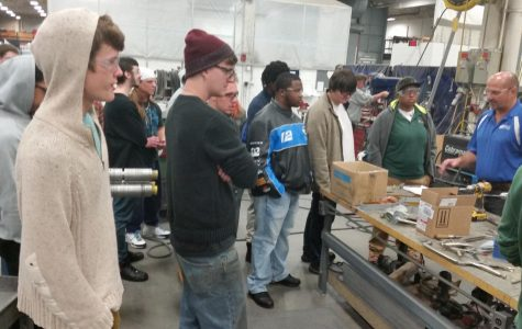 Welding Club visits Poblocki Sign Company