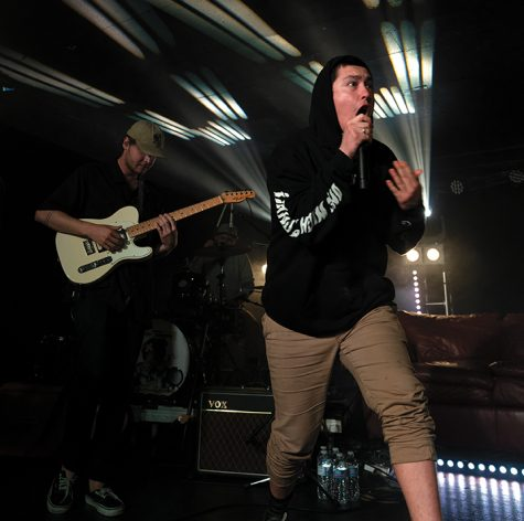 Hobo Johnson (right) opens his concert with energy at the Rave on Oct. 26.