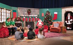 "Elves and children were waiting eagerly with Mrs. Claus to welcome Santa to the annual Milwaukee PBS' ""Letters to Santa"" show."