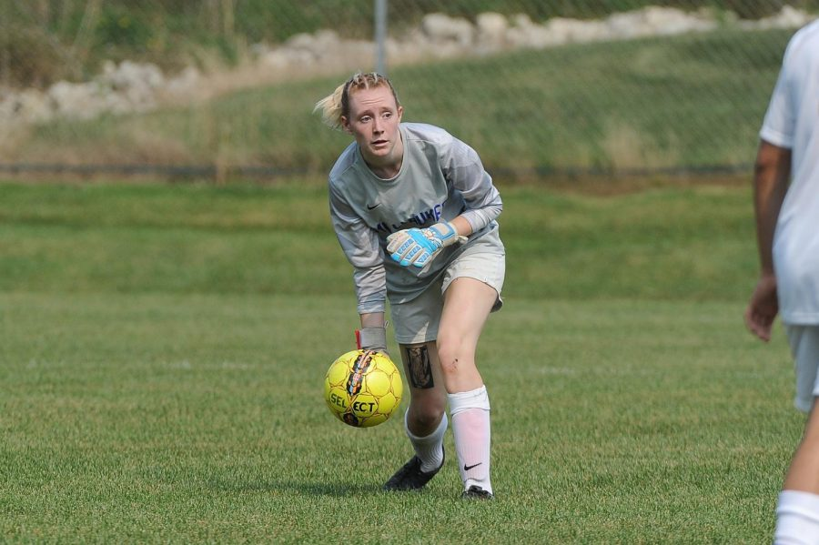 Stormers goalie Kelsi Casey makes school history by being the first female to earn a spot on the mens soccer team.